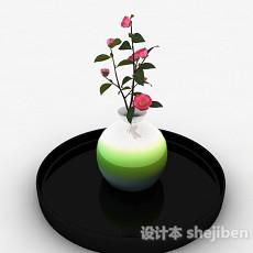 彩虹色椭圆形陶瓷花瓶3d模型下载