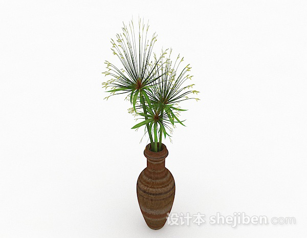 绿色花卉植物室内插花摆设