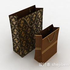 棕色纸袋3d模型下载