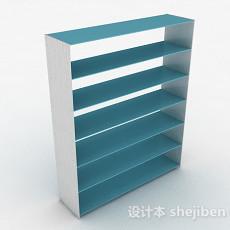 蓝色简约鞋柜3d模型下载