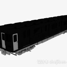 黑色火车车厢3d模型下载