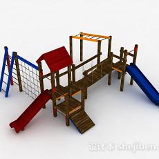 公园滑滑梯3d模型下载