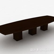 现代风格原木花纹木质茶几3d模型下载