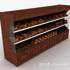 超市面包展示台3d模型下载