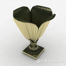 欧式金属装饰花钵3d模型下载