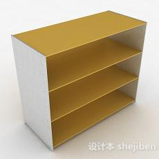 黄色简约墙柜3d模型下载