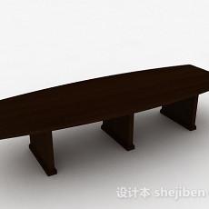 现代风格棕色茶几3d模型下载