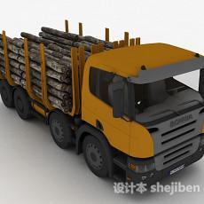 黄色拉货车3d模型下载