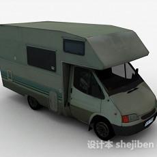 绿色便利售卖车3d模型下载