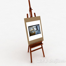 现代风格家居彩绘画像3d模型下载