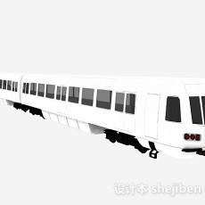 白色火车车厢3d模型下载