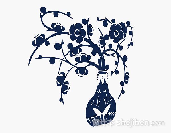 蓝色花卉壁纸