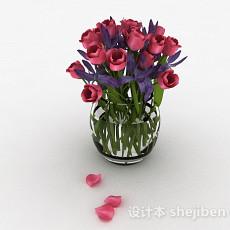 红色郁金香3d模型下载