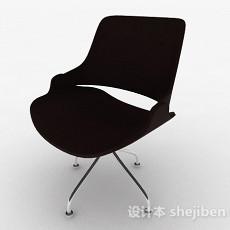 现代时尚棕色家居椅3d模型下载