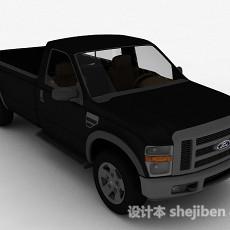 黑色汽车3d模型下载