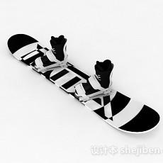 双色单板雪橇3d模型下载