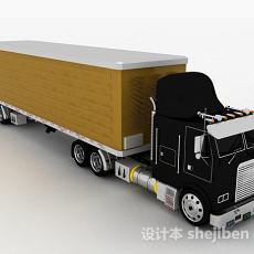 黑色货车3d模型下载