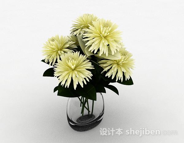 黄色菊花模型