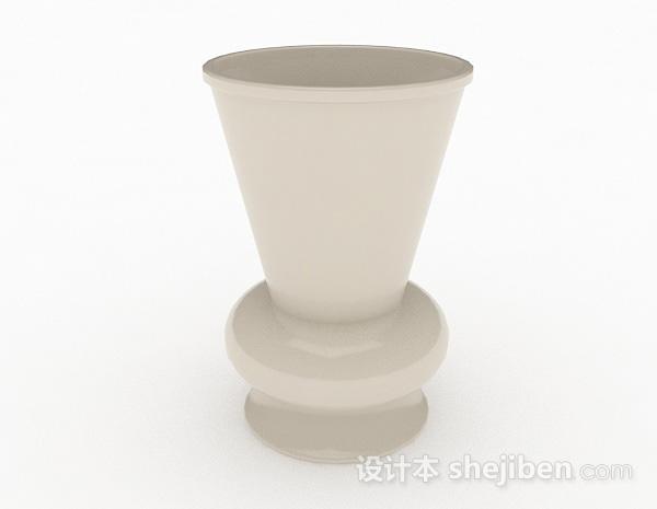 白色陶瓷广口花瓶