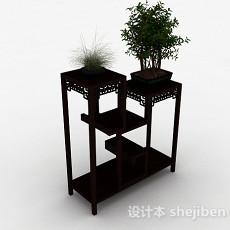 中式风组合木质花架3d模型下载