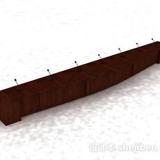 木质办公演讲班台3d模型下载