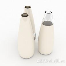 摆设水滴形瓶子3d模型下载