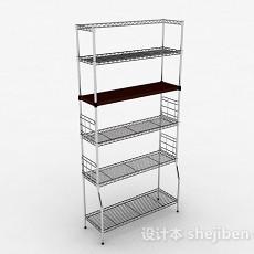 多层不锈钢镂空置物架3d模型下载