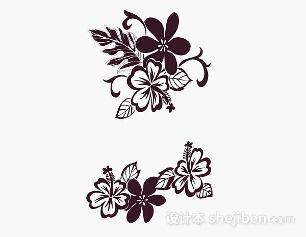 棕色花卉图案壁纸