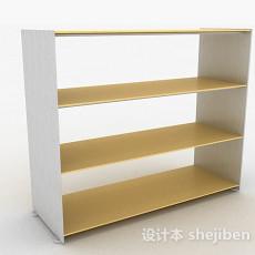 简约黄色多层鞋柜3d模型下载