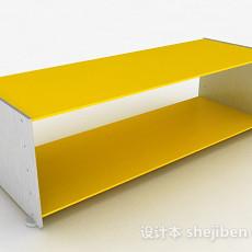 黄色鞋柜3d模型下载