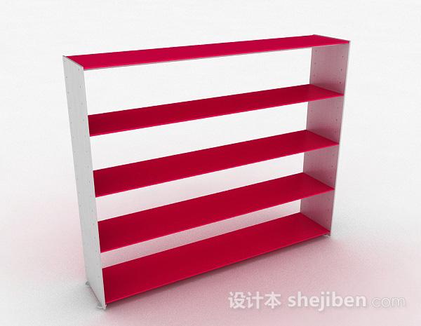 玫红色多层文件置物架