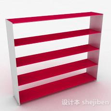 玫红色多层文件置物架3d模型下载