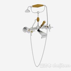 金属花洒3d模型下载