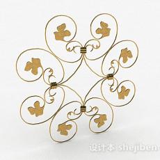 铜制金属铁艺铁花3d模型下载