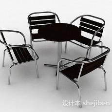 黑色时尚室外单人椅3d模型下载