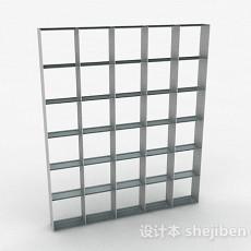 浅灰色多层展示架3d模型下载