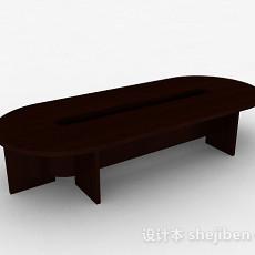 现代风格椭圆形会议桌3d模型下载