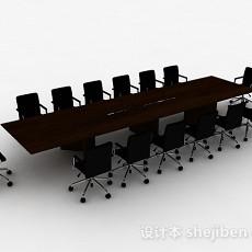现代简约办公桌椅组合3d模型下载