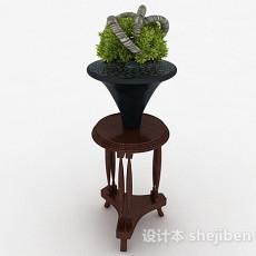 木质花架3d模型下载