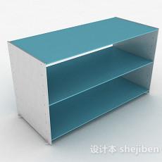 简约蓝色鞋柜3d模型下载