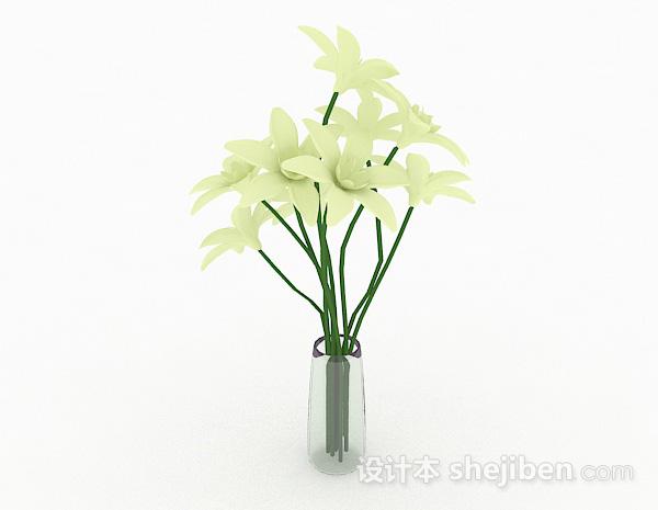 白色花卉室内插花摆设品