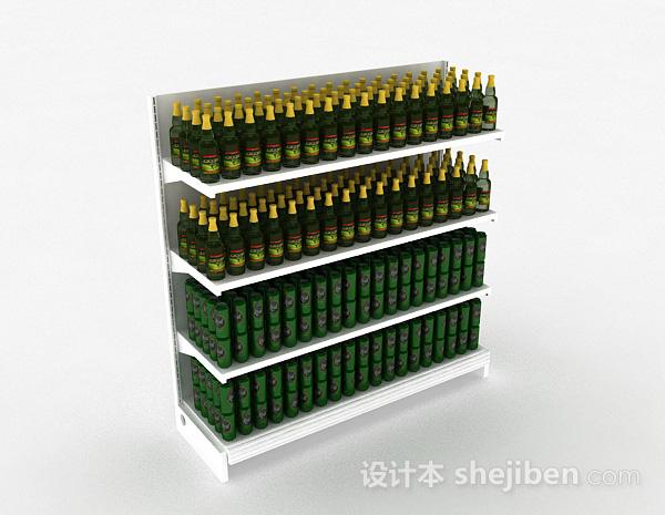 酒红色木质产品展示架