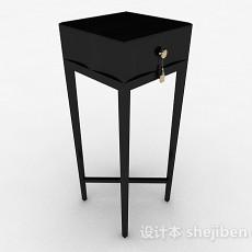 黑色木质花架3d模型下载