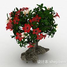 室内盆栽花朵3d模型下载