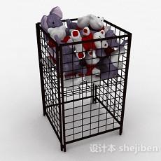 超市玩具公仔展示架3d模型下载