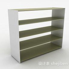 浅绿色多层文件置物架3d模型下载