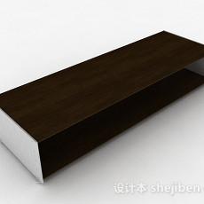 棕色简约鞋柜3d模型下载