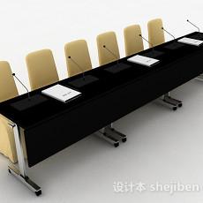 演讲桌椅组合3d模型下载