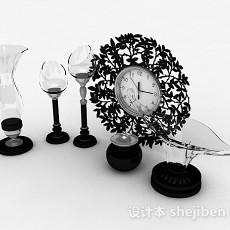 餐桌用餐装饰品3d模型下载