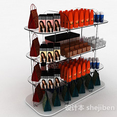 超市简约洗发产品展示台3d模型下载